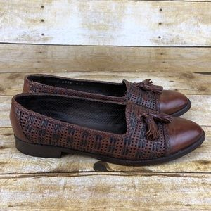 Cole Haan Woven Leather Tasseled Loafers